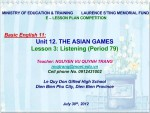 Unit 12: The Asian games - lesson 3: Listening