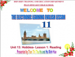 Unit 13: Hobbies- lesson1: Reading
