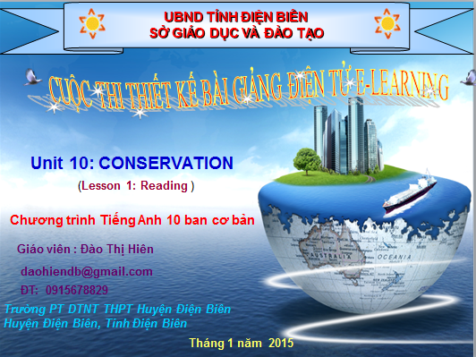 Lớp 10-Unit 10-Conservation