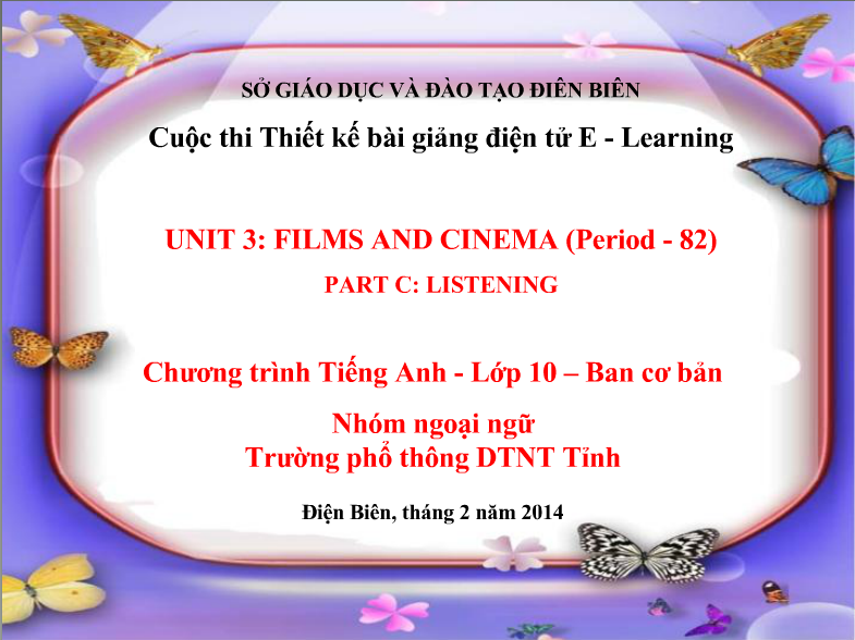 Unit 13: Film and cinema – Listening