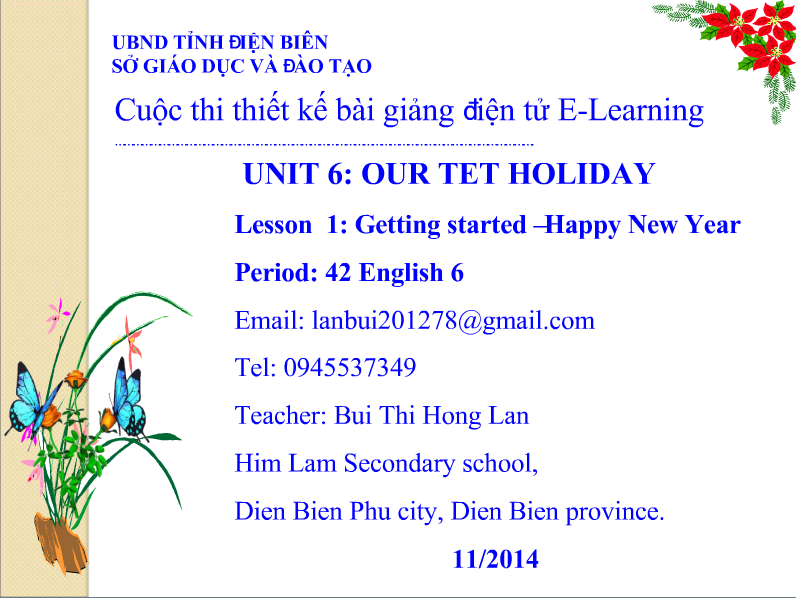 Tiếng anh lớp 6: Unit 6: Our Tet Holiday -  Lesson 1: Getting started