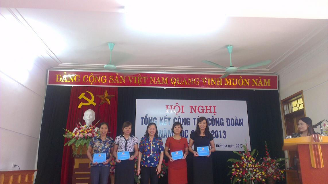 Công đoàn ngành Giáo dục tổ chức Hội nghị tổng kết hoạt động công đoàn năm học 2012 – 2013, triển khai phương hướng, nhiệm vụ năm học 2013 – 2014