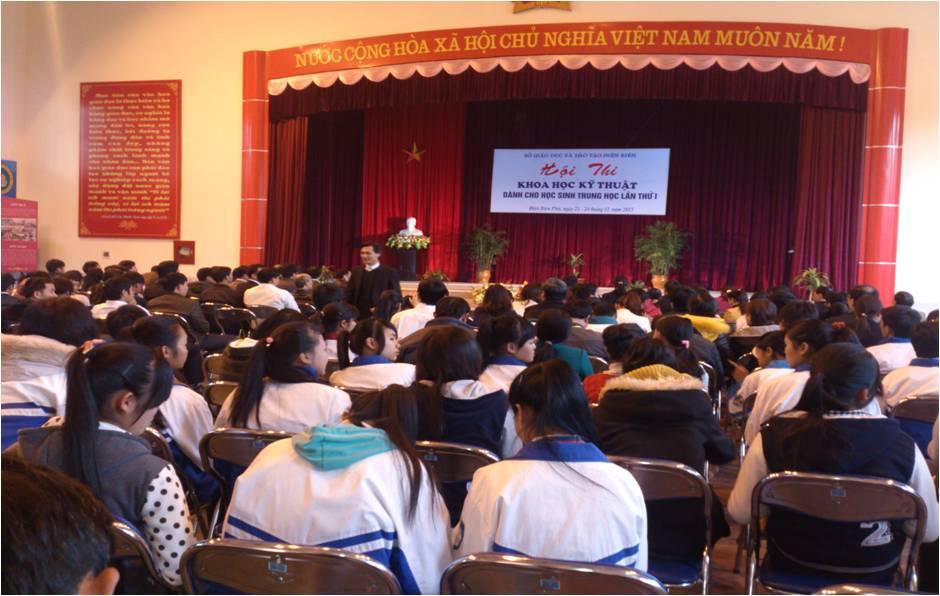 Hội thi Khoa học và Kỹ thuật dành cho học sinh trung học, trường PT DTNT THPT huyện Điện Biên đạt giải 3 toàn đoàn