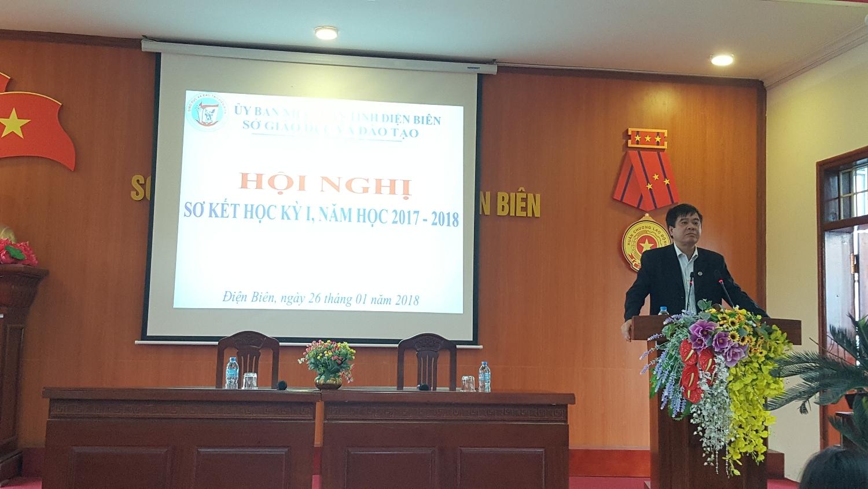 Đồng chí Nguyễn Văn Kiên Phó Giám đốc phụ trách Sở khai mạc Hội nghị