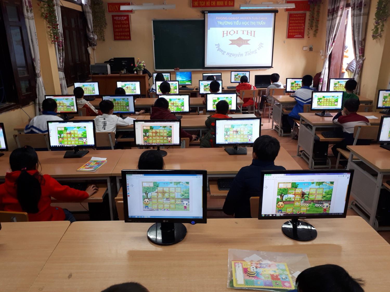 """GDTH - Trường Tiểu học thị trấn Tủa Chùa tổ chức sân chơi """"Trạng nguyên Tiếng Việt"""" cấp trường cho học sinh"""