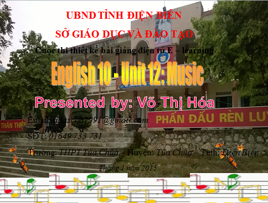 Lớp 10-Unit 12-Music